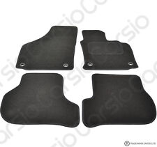 VW Golf MK5 & Jetta 03 -2008 Tailored Black Car Floor Mats Carpets Set Oval Clip