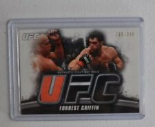 2010 Topps UFC Authentic Fight Mat Relic Forrest Griffin #'d 199/288
