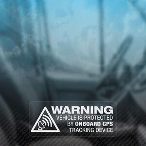 3x WARNING GPS TRACKING ON BOARD Tracker Security Car Van Bike Window Stickers