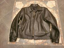 Langlitz Leather Crescent Motorcycle Jacket Sz 44