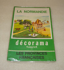 ANCIEN DECORAMA TOURET, LA NORMANDIE, DECALCOMANIES, LES PROVINCES FRANCAISES