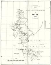 OHIO. USCGS Triangulation and Reconnaissance.Columbus 1881 old antique map