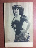 Antique Postcard 1909s CAROLINA OTERO Belle Epoque Sex symbol. Fashion Hat