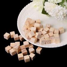 100X Square Handmade Wooden Bead Handcrafts DIY Crafts Cube Blocks Decor 25mm AU