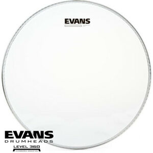 Evans 14 inch Hazy 300 Snare Drum Side Clear Head Skin Level 360 S14H30