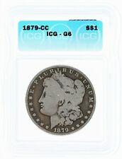 1879-CC Morgan Silver Dollar ICG G6 Carson City Key Date S$1