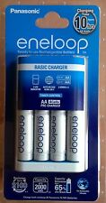 Eneloop AA AAA NiMH Charger + 4 AA's - 4th Generation - 2100 charges  2000mah