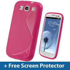 Pink Dual Tone TPU Gel Case for Samsung Galaxy S3 III i9300 Android Cover Skin