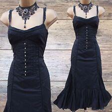 Karen Millen Black Embroidered Lace Trim Summer Holiday Gypsy Dress 12 UK