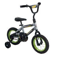 Huffy 12-Inch Rock It Boys Bike , Silver Matte / Lime