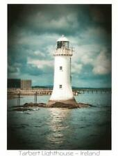 Postcard Ireland Limerick Tarbert Lighthouse Shannon River County Kerry MINT