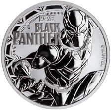 Tuvalu 1 dólares 2018 Black Panther Marvel Series (3.) 1 Oz plata sello brillo St