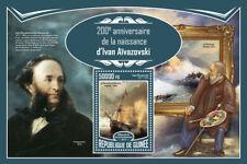 Guinea 2017 MNH Ivan Aivazovsky Russian Painter Marine Art 1v S/S Ships Stamps