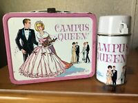 VINTAGE CAMPUS QUEEN LUNCHBOX AND THERMOS