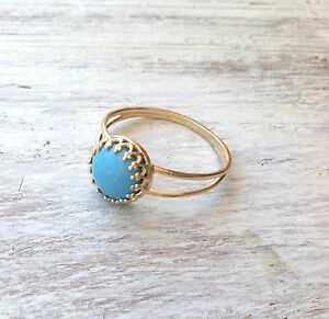 Gold Filled 14k Ring Crystal Swarovski Genuine Turquoise Pearl Sizeable