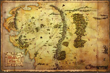 (LAMINATED) THE HOBBIT MAP POSTER (61x91cm)  PICTURE PRINT NEW ART