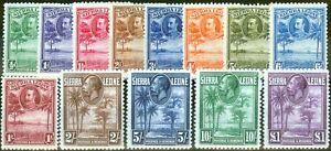 Sierra Leone 1932 set of 13 SG155-167 Fine & Fresh Mtd Mint