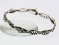 Armband in aus 925er Sterlingsilber mit Markasiten Silber Armreif Silberarmband