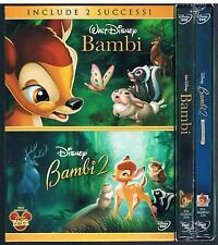BAMBI  + BAMBI 2 II BOX 2 DVD F.C. SIGILLATO!!!