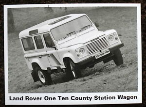 LAND ROVER ONE TEN COUNTY STATION WAGON PRESS PHOTOGRAPH BLACK & WHITE UNDATED
