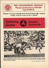 DDR-Liga 87/88 ZEPA Sajonia anillo Zwickau-progreso Bischofswerda, 19.08.1987