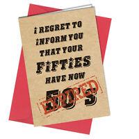 #1021 Funny Rude 60th BIRTHDAY CARD Gran Grandad Mum Dad Cheeky Greeting Gift