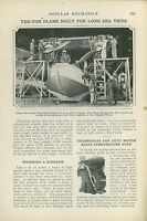 1925 Magazine Article Navy Building PN-9 Seaplane, Flying Boat Aviation Hawaii
