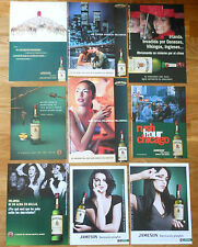 JAMESON 9x ADS 1990s/00s promo advert advertising drink poster anuncios Whiskey