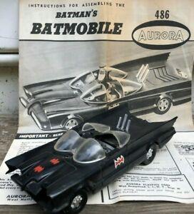 VINTAGE Aurora BATMOBILE Model Kit No. 486,1966, Builtup w OriginaI Instructions