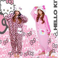 Hello Kitty Kigurumi Pyjamas Adults Cartoon Cosplay Onesies Sleepwear Costumes