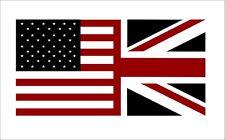 American British Flag Decal US UK USA Britain Union Jack Vinyl Car Sticker