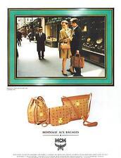 ▬► PUBLICITE ADVERTISING AD Bag Sac MCM Michael Cromer Maüchen 1992
