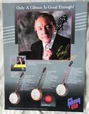 """Gibson Earl Scruggs Banjo Poster, 18""""x24"""" Full Color, One Sided, 3 Models, New"""
