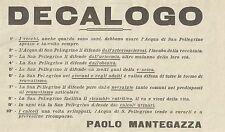 W5755 Decalogo Acqua di San Pellegrino - Pubblicità 1926 - Advertising