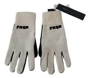 MARC BY MARC JACOBS Gloves White Black Wool Nylon Women s. S / 0 RRP $120