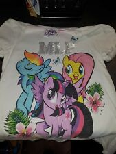 little girls my little pony tops size 6-7 years