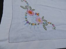 Hand Embroidered Vintage Tablecloth Floral design