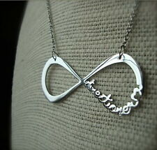 1D - One Direction Directioner Infinity Chain Necklace STAINLESS STEEL Promotion