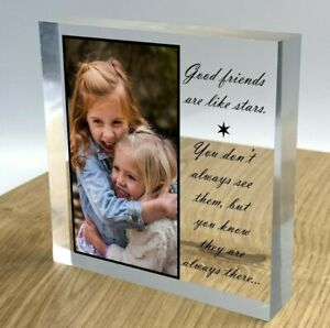 Personalised Block Plaque Photo 3D Effect 2021 Picture Frame Wedding Family Gift