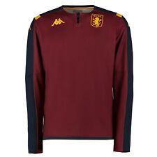 Kappa Official Kids Aston Villa FC 1/4 Zip Football Training Top Claret Red