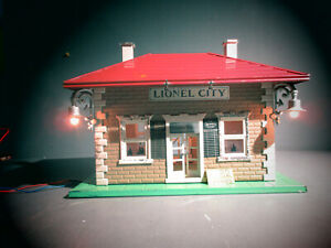 LIONEL PREWAR STANDARD GAUGE NO. 124 CITY PASSENGER STATION GREEN BASE