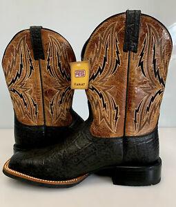 ARIAT Western Arena Rebound Black Elephant Print Cowboy Boots 10021678  9.5EE