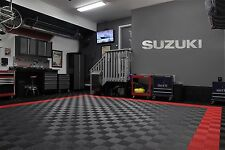 Suzuki Garage Sign 5 Feet Brushed Silver