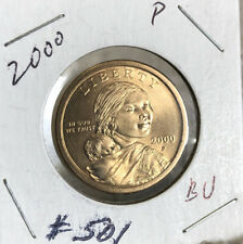 2000 P SACAGAWEA ONE DOLLAR US LIBERTY GOLD COLOR COIN PHILADELPHIA MINT #501