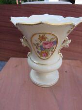 1930s Vintage w/ 24k gold trim Porcelain Tebor Crownford China Vase USA