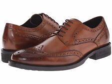 Men's Shoes Kenneth Cole Gold Mind Leather Wingtip Oxford KMF5LE082 Cognac *New*
