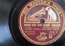 78 rpm MAEK WEBER ORCH rosen aus dem suden [ strauss ]