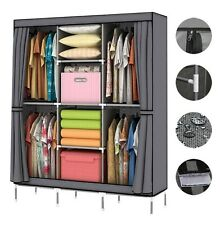 Portable Clothes Storage Closet Home Organizer Shelf Wardrobe Rack Shelves 70""