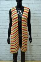 Cardigan Donna STEFANEL Maglia Lunga Vintage Taglia S Multicolore Maglione Felpa