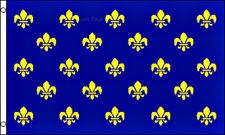 Fleur De Lis Blue Multiple Historical Flag 3x5 Polyester